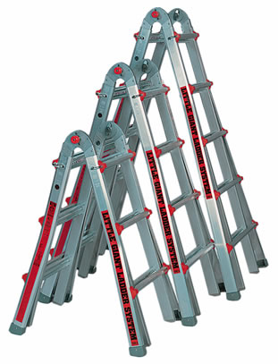 A Frame Telescoping Step Ladder
